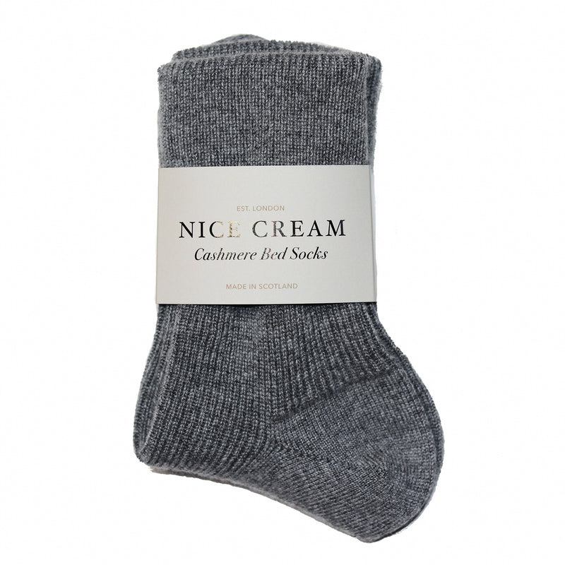 Charcoal Cashmere Bed Socks
