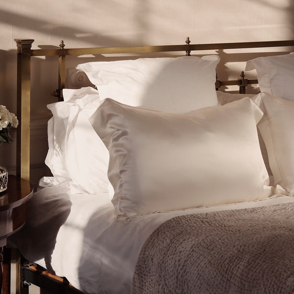 Oxford Queen Silk Pillowcase - Ivory