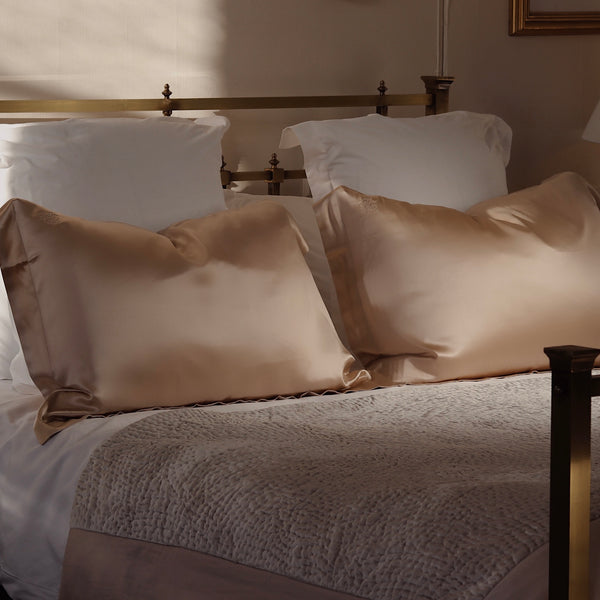 Oxford Queen Silk Pillowcase - Champagne