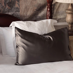Privé Silk Pillowcase Slip - Charcoal
