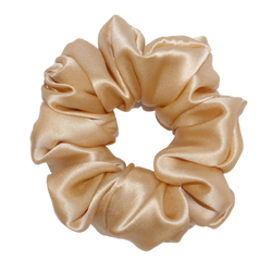 Luxe Pure Silk Hair Scrunchie - Honey