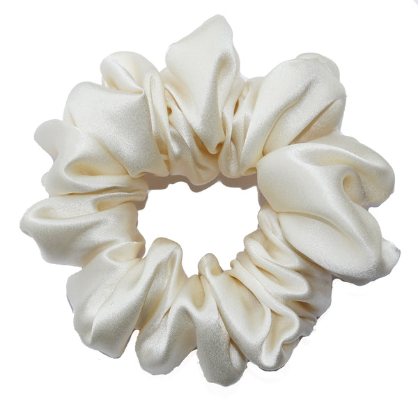 Luxe Pure Silk Hair Scrunchie - Gardenia