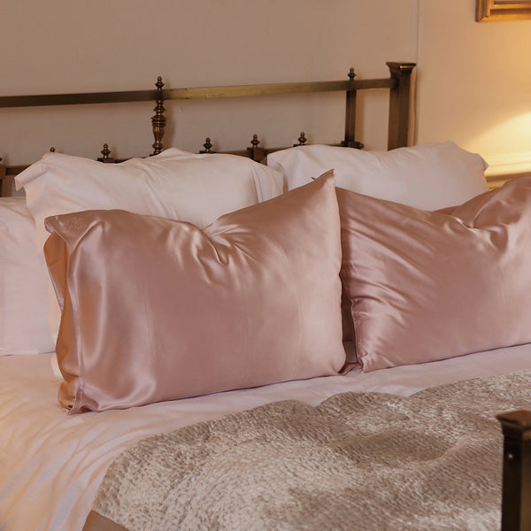 Privé Queen Size Pillowcase Slip - Blush Pink - The Nice Cream Company