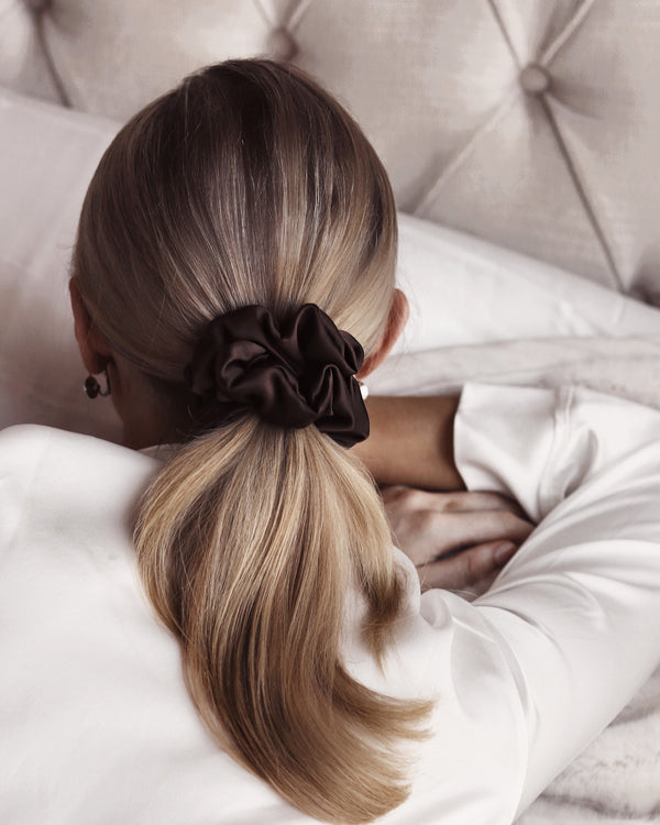 Luxe Pure Silk Hair Scrunchie - Coco
