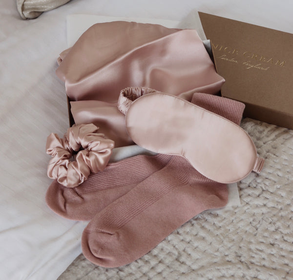 Ultimate Silk & Cashmere Bed Set - Blush