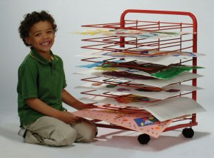 Mobile Paint Drying Rack by Copernicus Educational