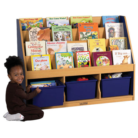 Colorful Essentials Book Display with Storage