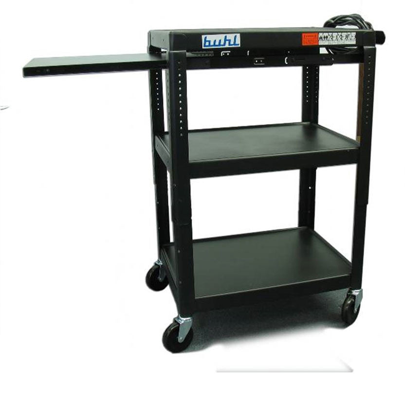 av media cart height adjustable u0026 shelves - Av Cart