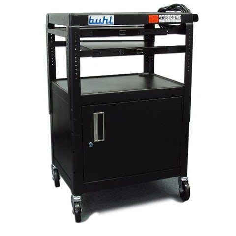Hamilton Buhl Media Cart with Security Cabinet