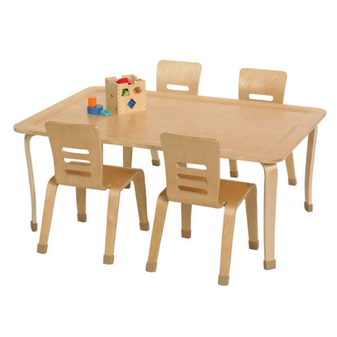 Birch Hardwood Activity Play Table