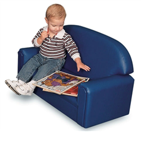 Blue Vinyl Couch for Toddlers - Brand New World