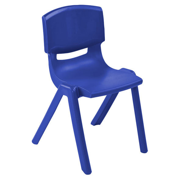 ... Blue Resin School Chairs At Tomorrows Classroom