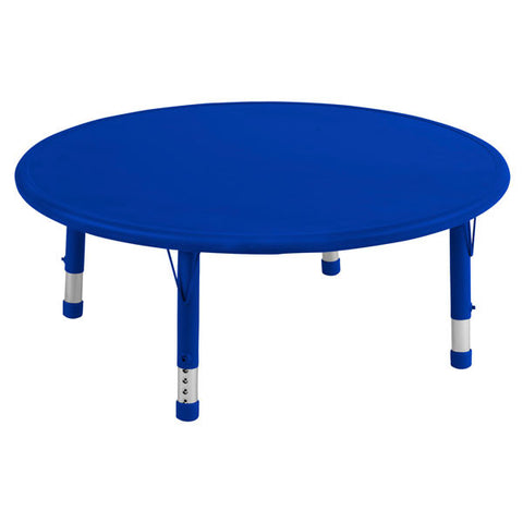 Adjustable Activity Table - Blue Round Resin