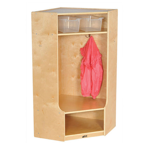 Birch Hardwood Locker - Corner Section