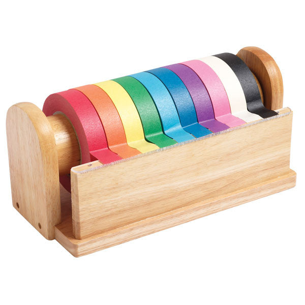 Hardwood Craft Tape Dispenser witih 10 Rolls of Craft Tape