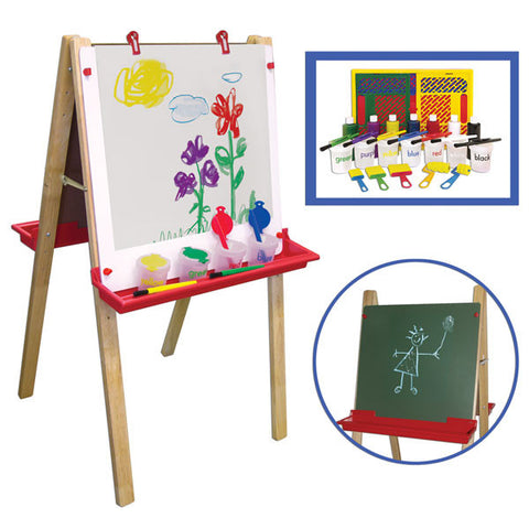 Double Sided Art Easel with Paint Set