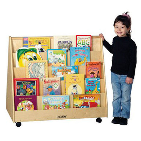 ECR4Kids Double Sided Birch Book Display