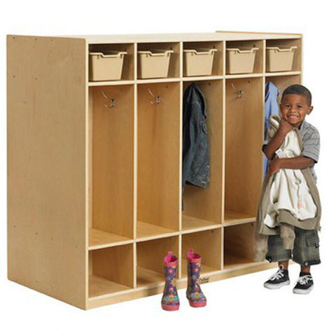 10 Section Birch Lockers - Double Sided