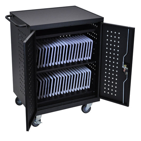Luxor Tablet Charging Cart with 42 Bays