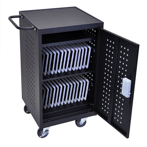 Luxor 30 Bay Laptop Charging Cart