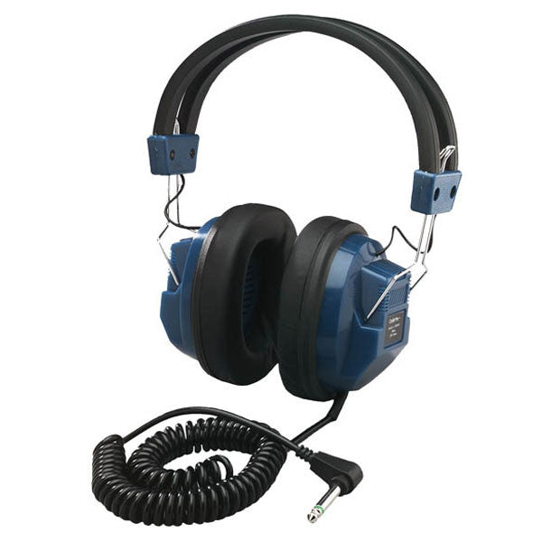"Hamilton Buhl Deluxe Mono Headphones with 1/4"" Adapter for Students"