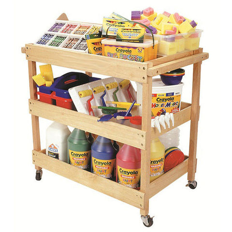 Hardwood Utility Cart by ECR4Kids