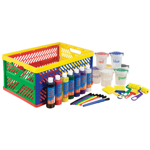 27 Piece Paint Set with Storage Crate