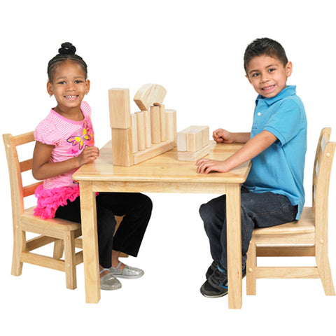 Wood Preschool Table - Square