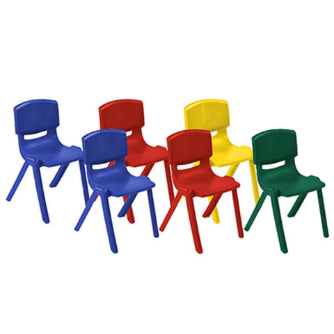 Stacking Resin Chairs for Classrooms by ECR4Kids