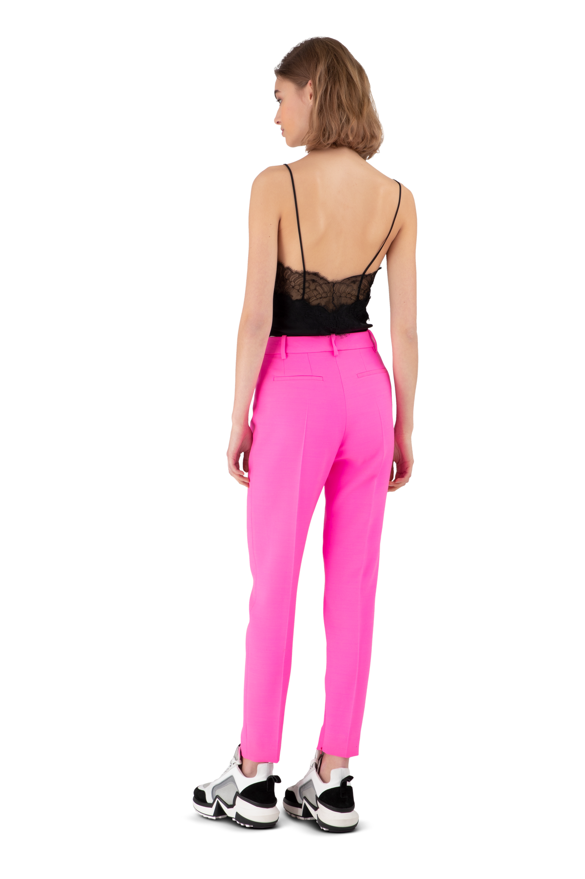 Hot Pink Tailor Crepe Trousers