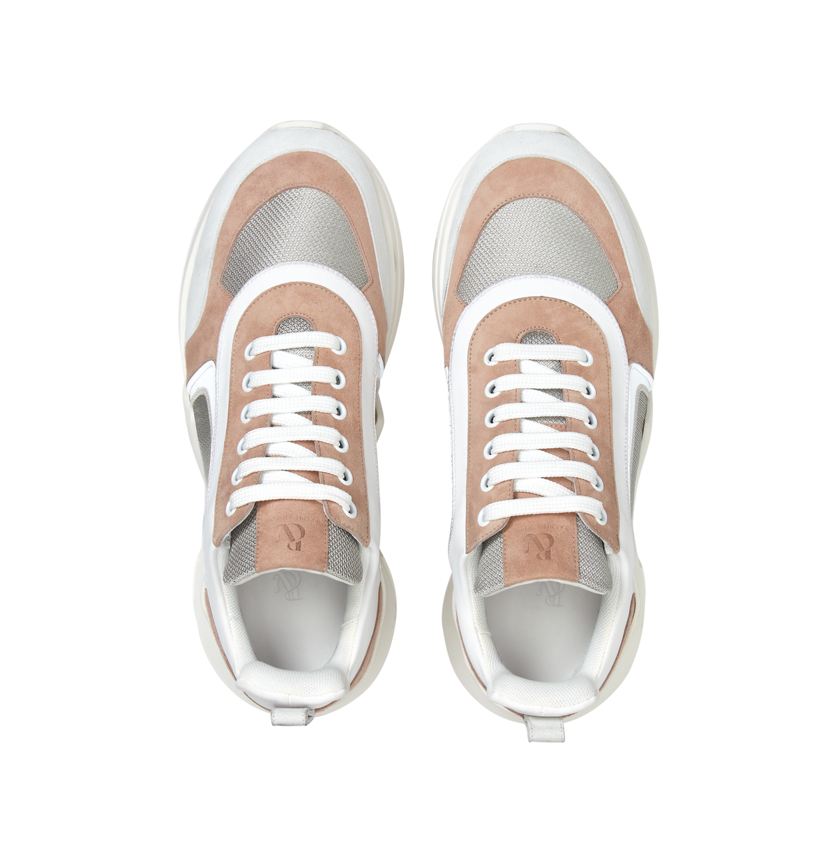 Tan and White Suede 4.0 Sneakers