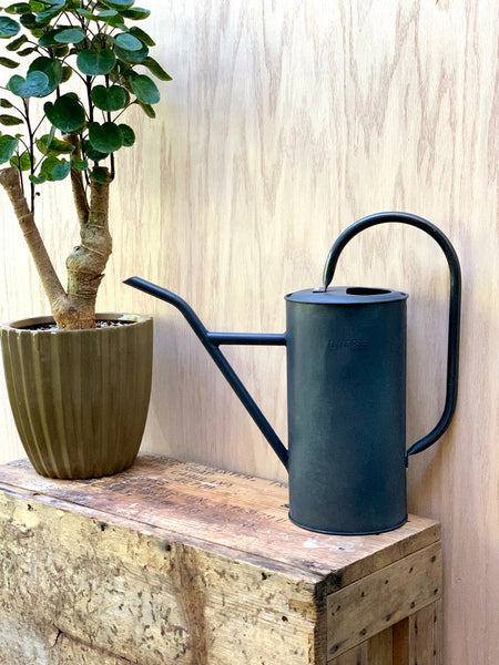 Litre Tin Watering Can - Black