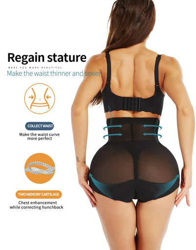 Hi-Waist Tummy Control Body Shaper Shorts