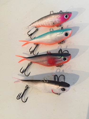 3x soft plastic vibe transam fishing lures- Barra, bass, jew, jack, trout & more