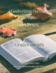 Handwriting Through The Bible {50 Pages} - Strategic Homeschooling And More