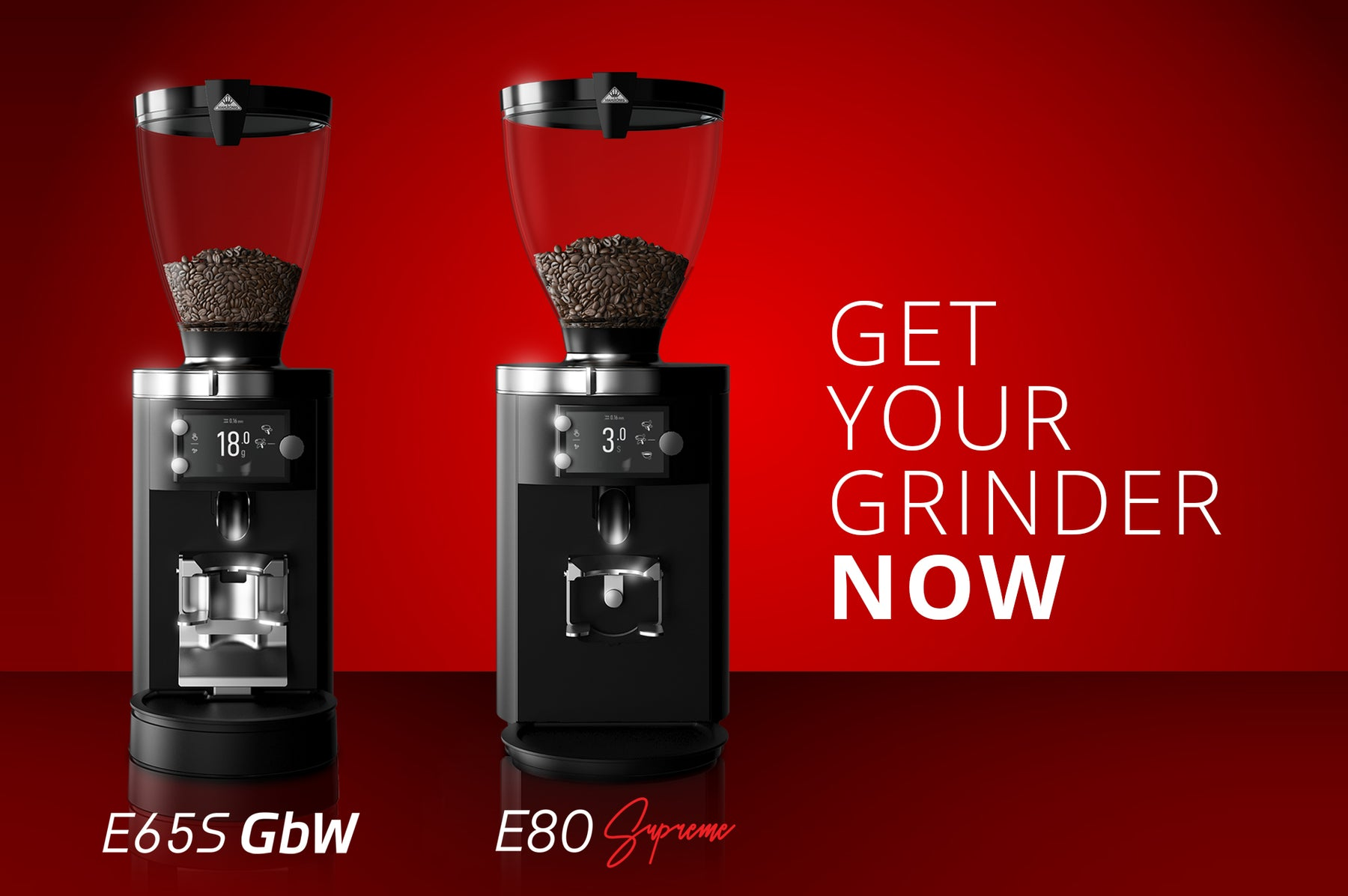 Available now: E80 Supreme & E65S Grind-by-Weight