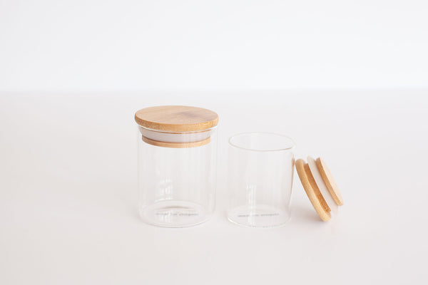 LUXE Glass and Bamboo Spice Jar 110ml