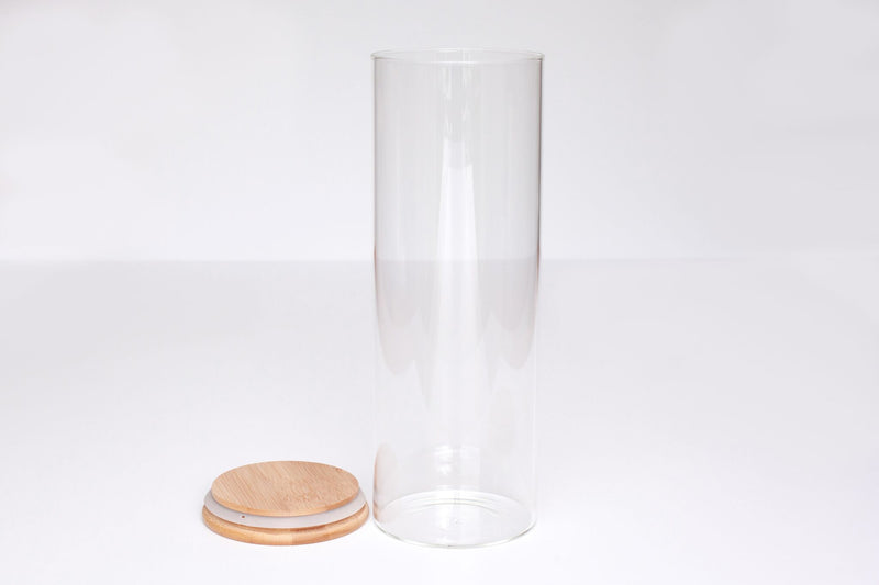 LUXE Glass and Bamboo Storage Vessel 2000ml