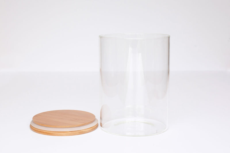 LUXE Glass and Bamboo Storage Vessel 3500ml