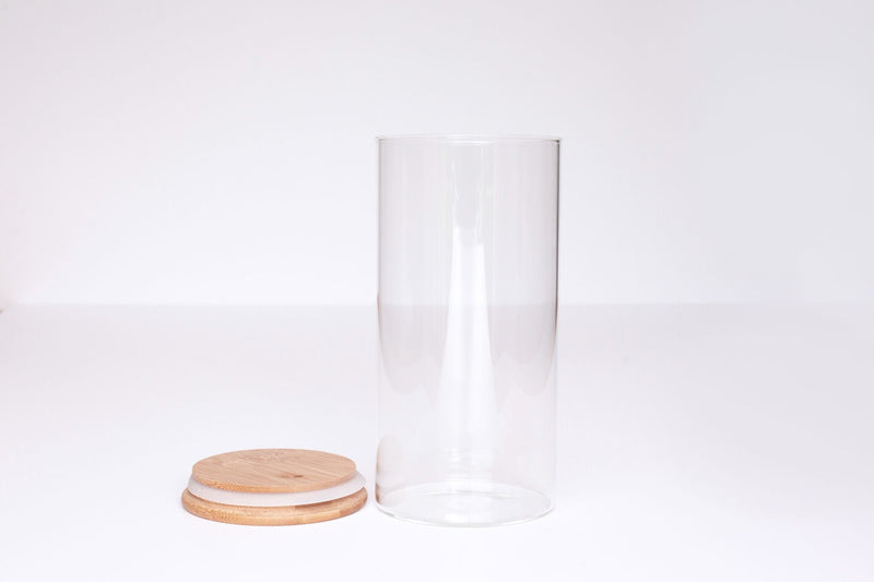 LUXE Glass and Bamboo Storage Vessel 1300ml