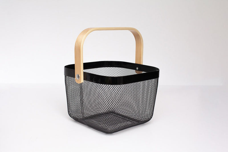 WINSLOW Wire and Bamboo Basket