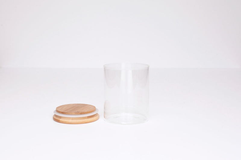 LUXE Glass and Bamboo Storage Vessel 450ml
