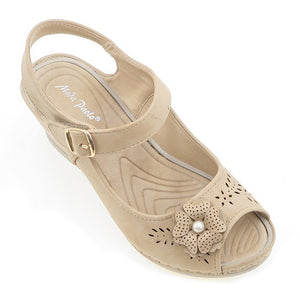 Women PU Wedges Sandals (33743T)