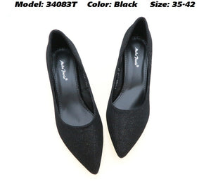 Women Formal Heels in Black Colour (34083T)
