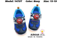 Load image into Gallery viewer, Kidcar Kids Sport Shoes in 2 Colours (1473T) With LED Flash Lights