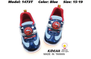 Kidcar Kids Sport Shoes in 2 Colours (1473T) With LED Flash Lights