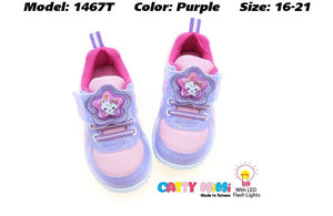 Catty MiMi Girls Sport Shoes in 2 Colours (1467T) With LED Flash Lights