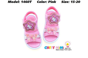 Catty MiMi Girls Sandals in 2 Colours (1460T) With LED Flash Lights