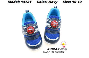 Kidcar Kids Sport Shoes in 2 Colours (1472T) With LED Flash Lights