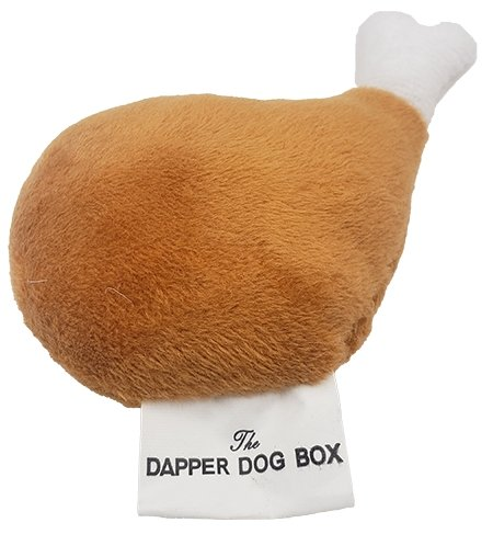 Dapper Dog Box Turkey Leg Plush Squeaker - The Dapper Dog Box